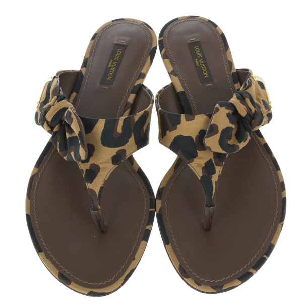 Louis Vuitton Stephen Sprouse Leopard Print Savana Thong Sandals Size 38.5
