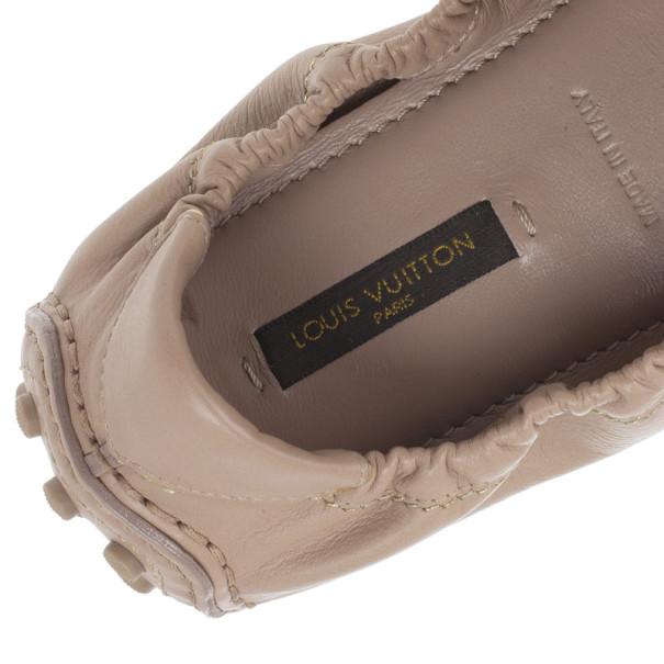 Louis Vuitton Beige Leather Tempting Ballet Flats Size 37.5