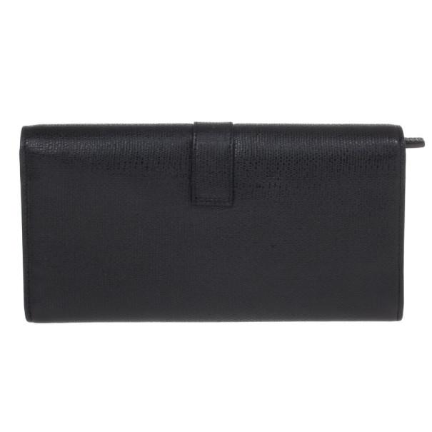 Saint Laurent Black Classic Y Flap Wallet