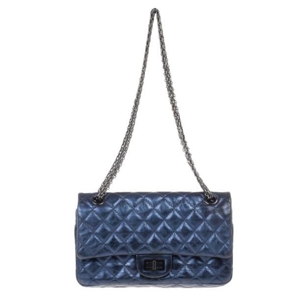 Chanel Metallic Blue 2.55 Reissue Bag
