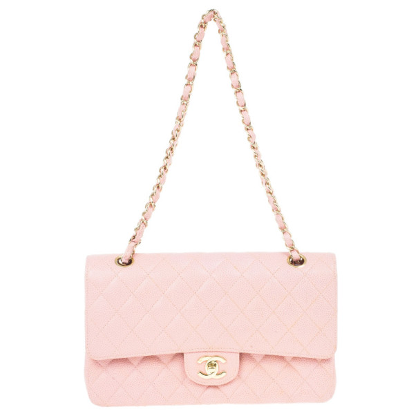 Chanel Pink Caviar Medium Double Flap Bag