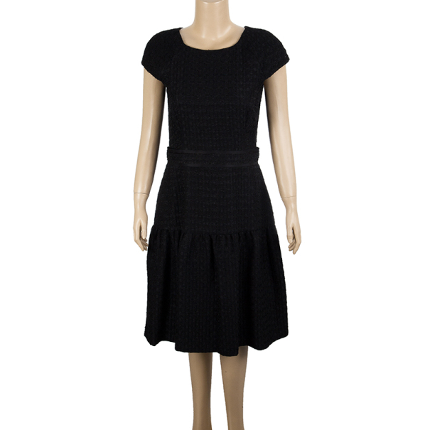 CH Carolina Herrera Textured Cotton Dress M