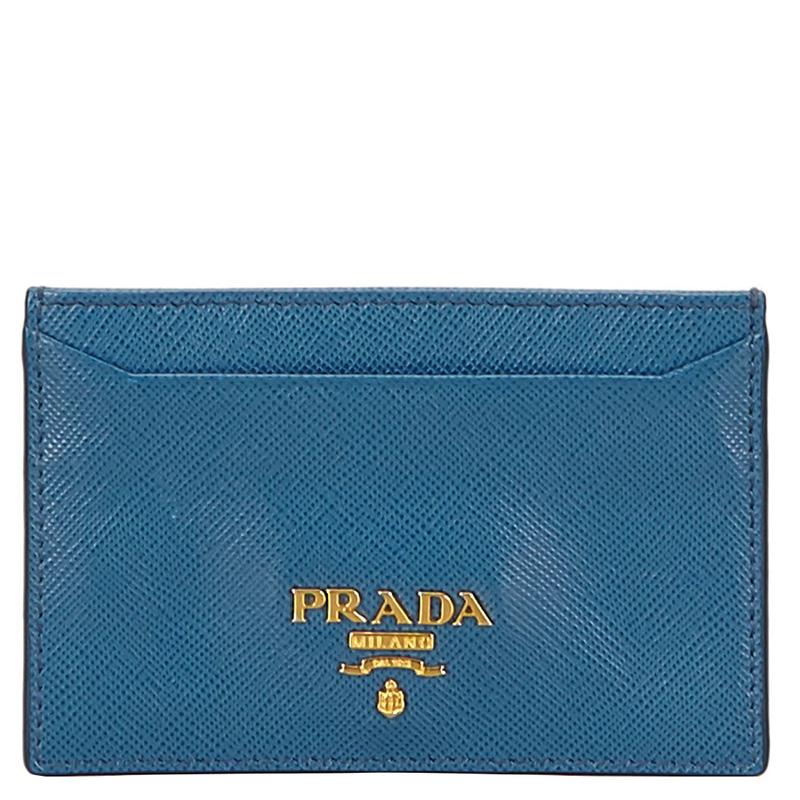 db7dbef8147a39 ... wallets prada men u34q6688 84fa6 3d40c; closeout prada blue saffiano  leather card holder. nextprev. prevnext 41aef 32933