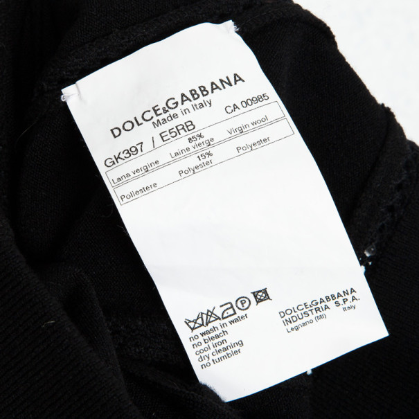 Dolce and Gabbana Wool Knit V-Neck Sweater S