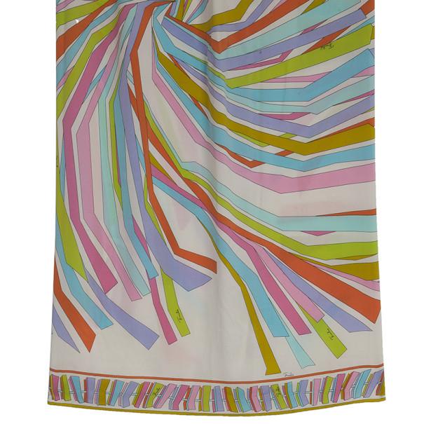 Emilio Pucci Blue Multi Print Maxi Skirt M