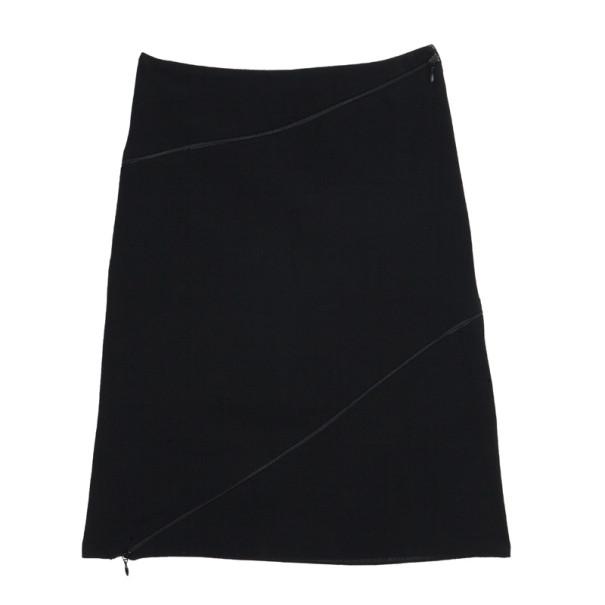 Alexander McQueen Diagonal Zipper Skirt S