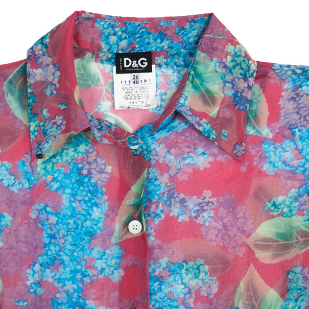 D and G Printed Silk Top S