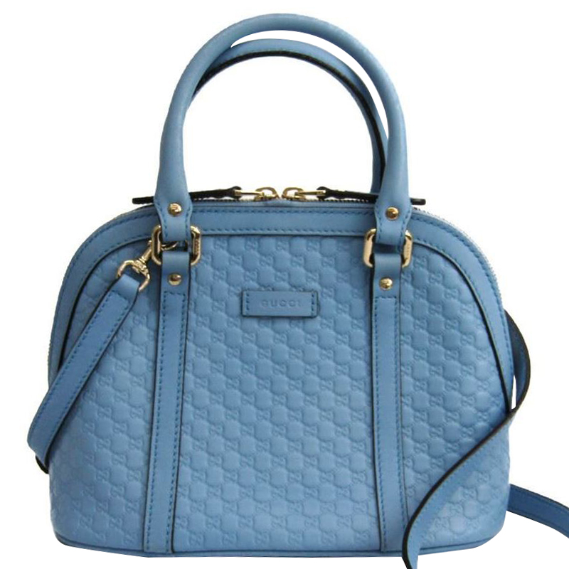 dbbf96216e9 Gucci Baby Blue Microguccissima Leather Top Handle Bag At Best