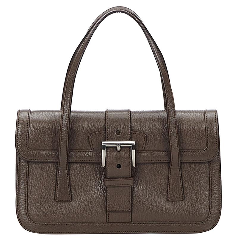 b3a7ab910b7e ... good prada dark brown leather top handle bag. nextprev. prevnext 763c7  9f15a
