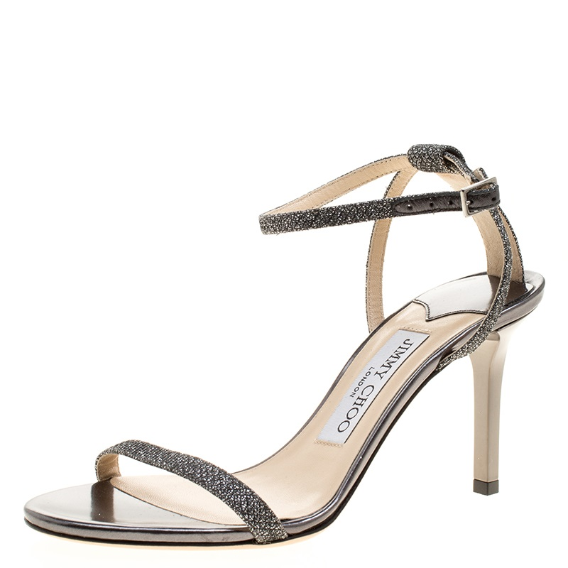 772b4166b092e ... where to buy jimmy choo silver glitter daisy ankle strap sandals size  36. nextprev.
