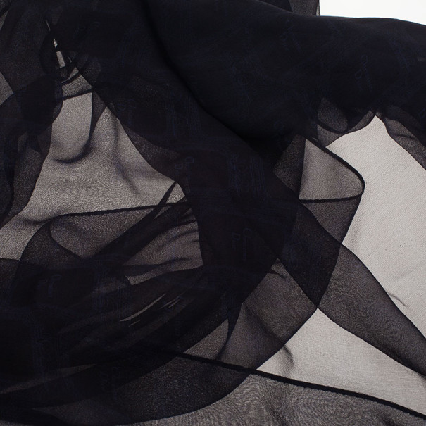 Dior Blue Logo Silk Stole