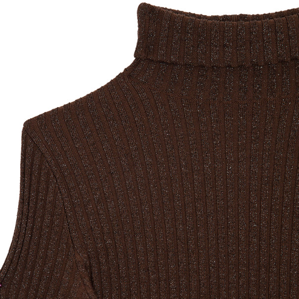 Dolce and Gabbana Turtleneck Ribbed Top XS