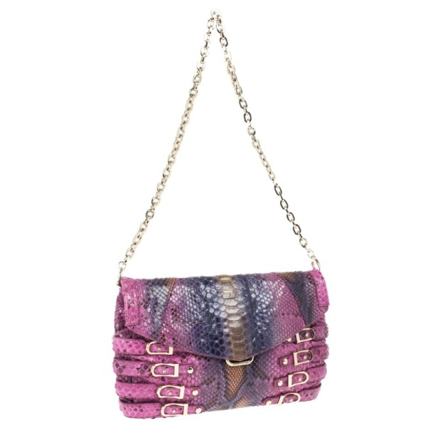 Jimmy Choo Multicolour Snakeskin Brix Convertible Clutch