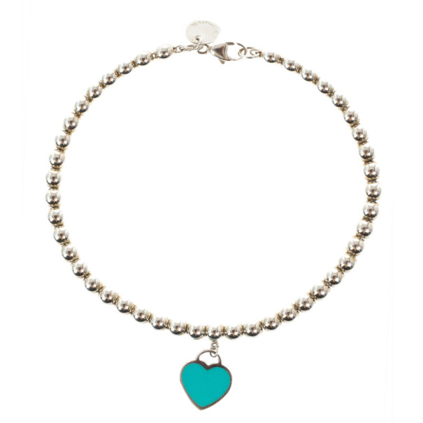 Tiffany & Co. Return To Tiffany Silver Beat Bracelet 17CM