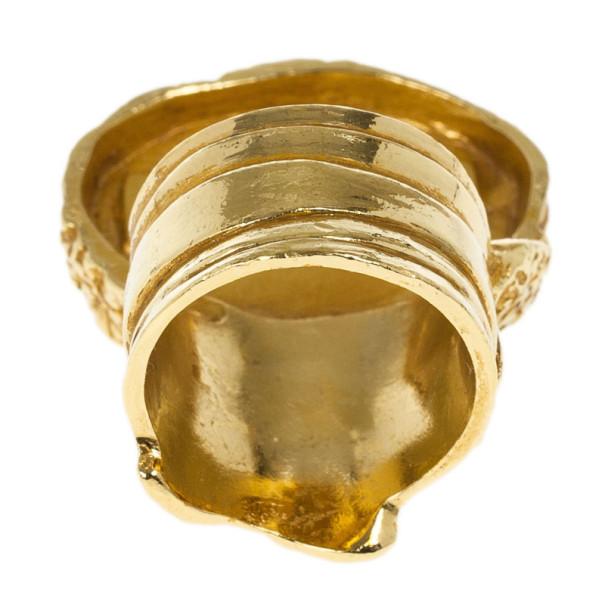 Saint Laurent Arty Black Ring Size 54.5