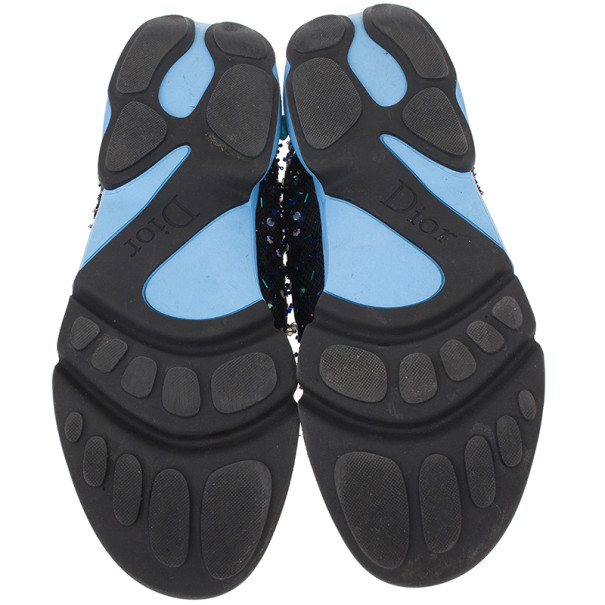 Dior Black Sequin Sneakers Size 38.5