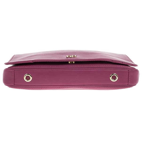Carolina Herrera Fushia Pink Leather New Baltazar