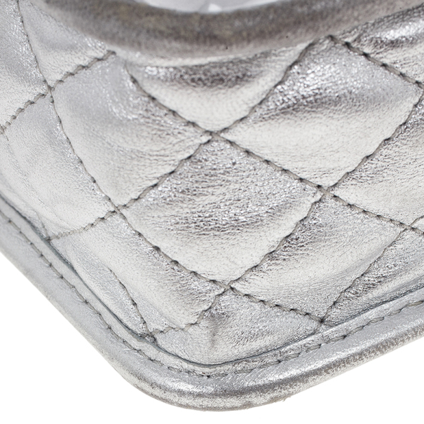 Chanel Silver Leather Ice Cube Limited Edition Bag