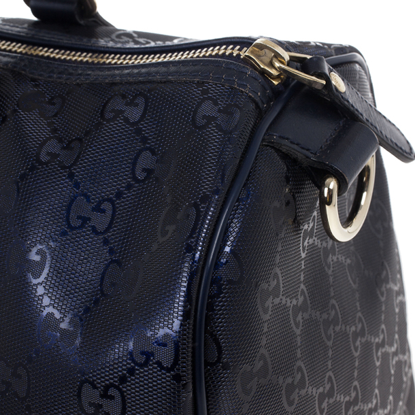 Gucci Blue GG Imprime 'Joy' Medium Boston Bag