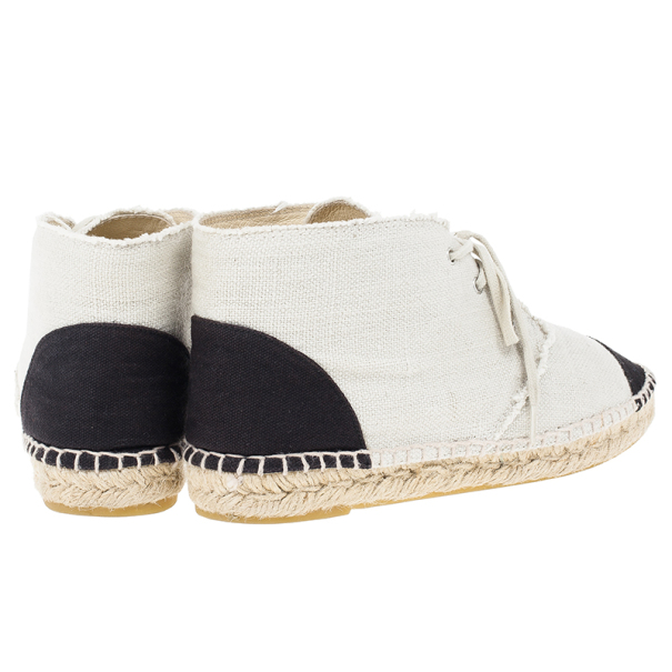 Chanel CC Canvas Espadrille Sneakers Size 39