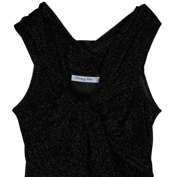 Dior Black Shimmer Cocktail Dress S