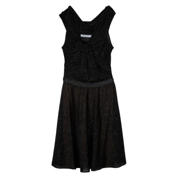 Dior Black Shimmer Cocktail Dress S