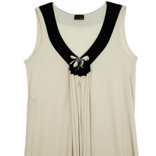 Fendi Gathered Monochrome Dress L