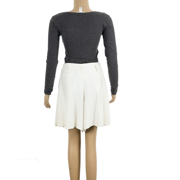 Chanel Cream Skater Skirt M