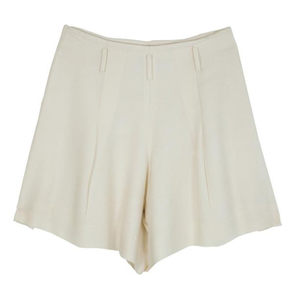 Chanel Cream Skater Skirt M