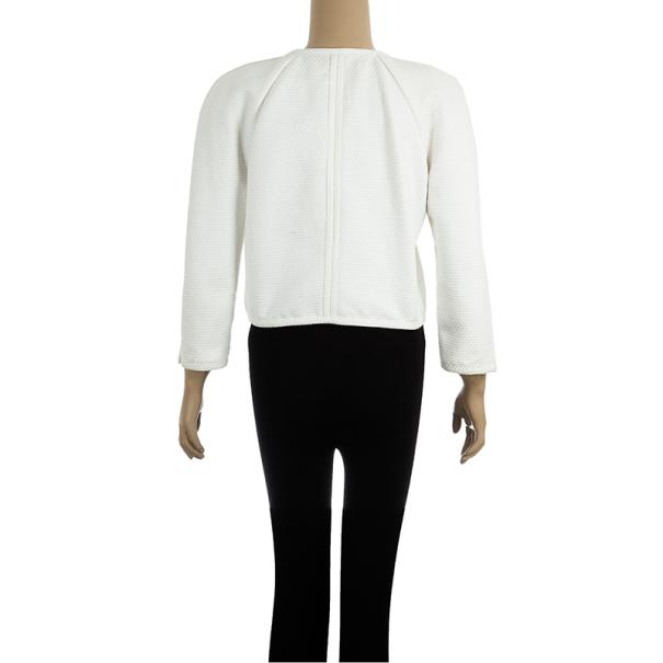 Chanel Cream Cotton Textured Jacket M