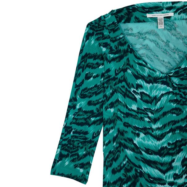 Diane Von Furstenberg Oletta Printed Dress M