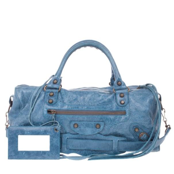 Balenciaga Blue Leather Twiggy Bag