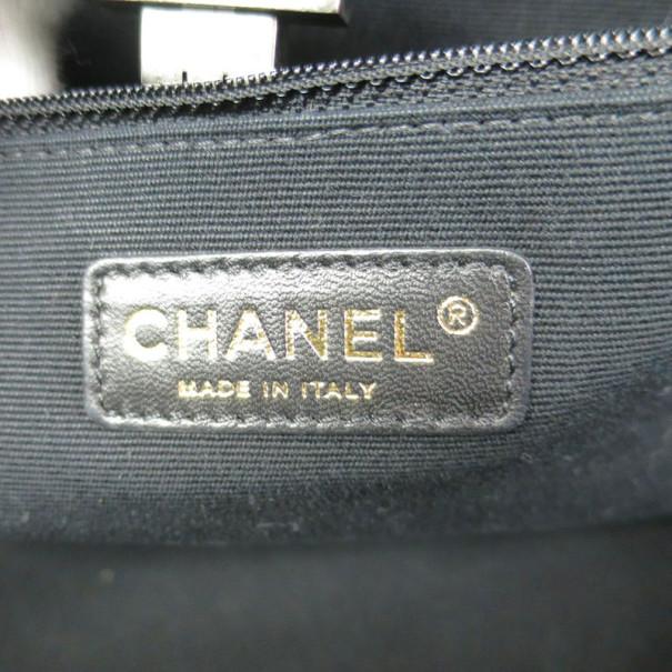 Chanel Black Patent Leather Rita Tote