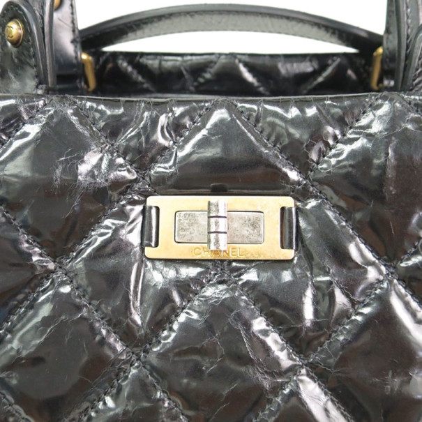 Chanel Black Patent Leather Rita Tote