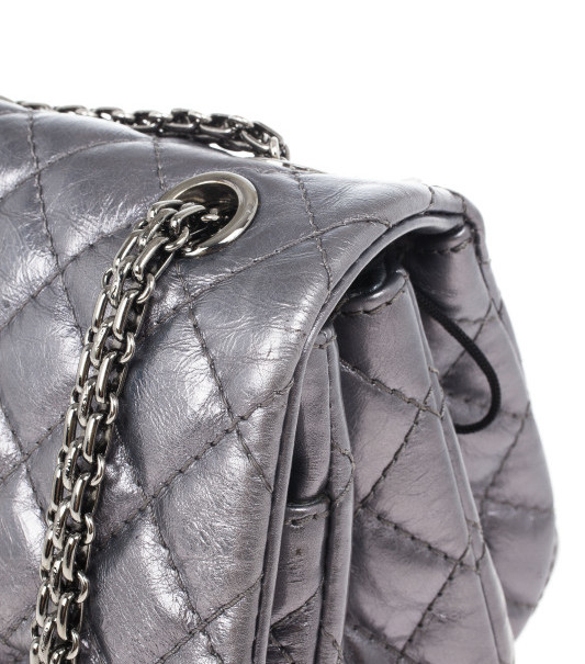 Chanel Metallic Grey 2.55 Reissue 226 Flap Bag
