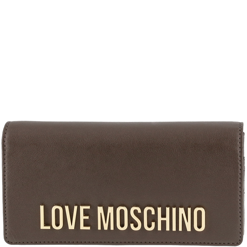 bbda038b5cc56 Buy Love Moschino Grey Leather WOC Clutch Bag 157209 at best price | TLC