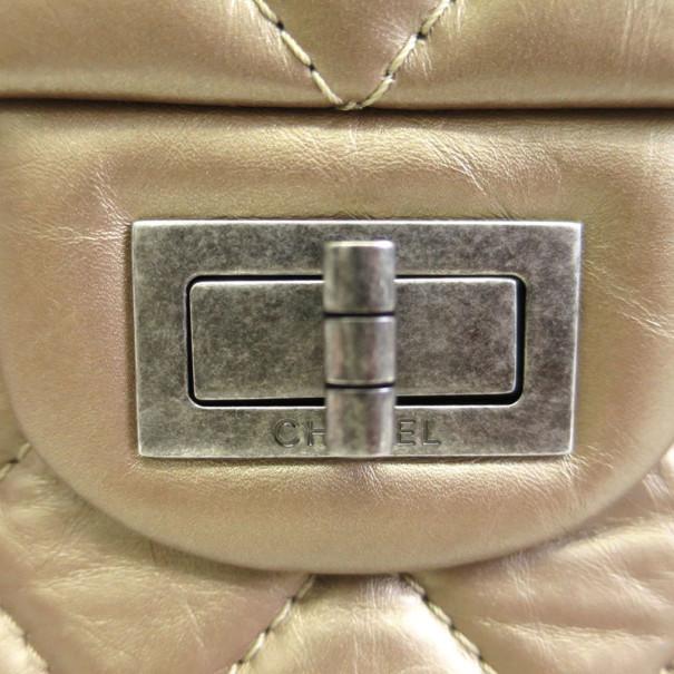 Chanel Bronze Calfskin Double Flap Reissue 2.55 Shoulder Bag