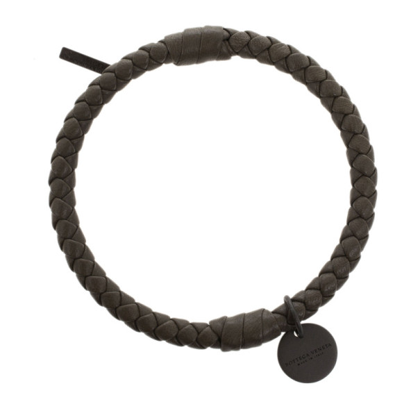 Bottega Veneta Intrecciato Nappa Olive Green Bracelet S