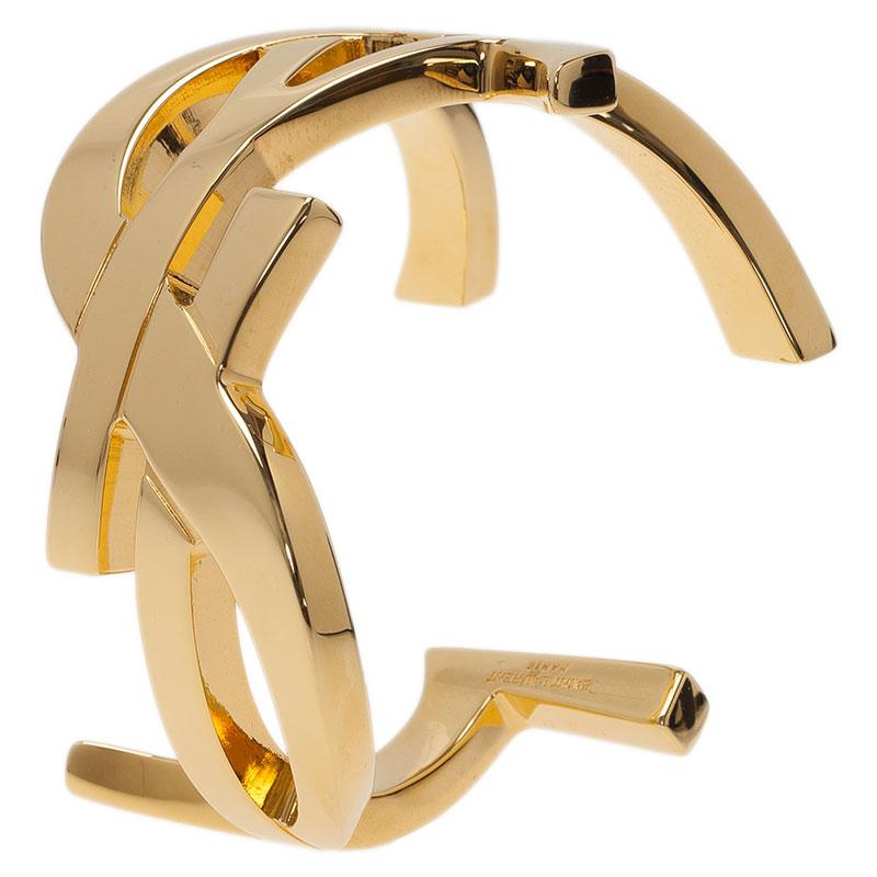 Saint Laurent Paris Cassandre Gold-Plated Bracelet