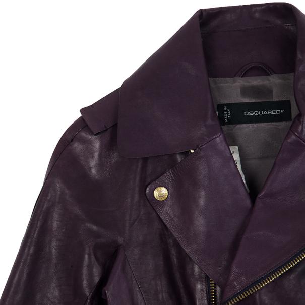 Dsquared2 Resort 2013 Leather Moto Jacket S