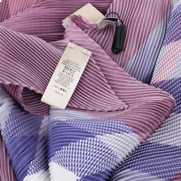 Burberry Novacheck Silk Pleated Scarf