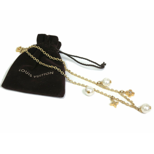Louis Vuitton Charmy Pearl Necklace