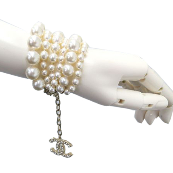 Chanel Multi Strand Pearl Bracelet