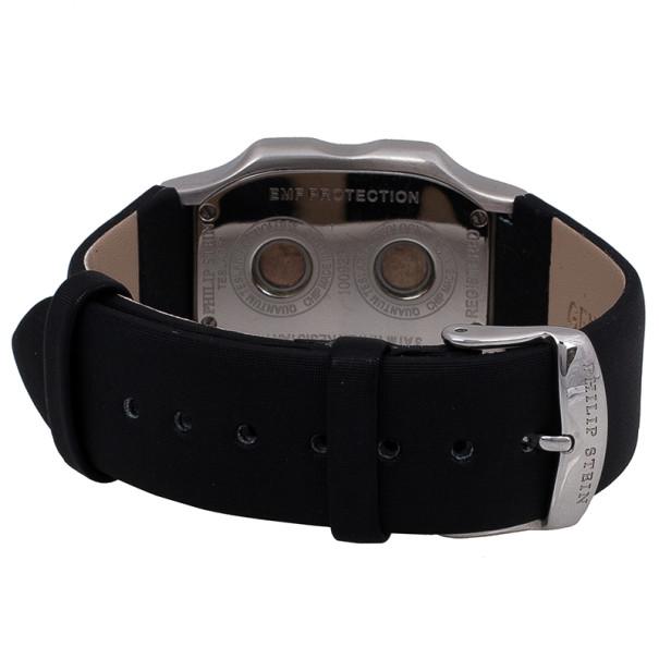 Philip Stein Black Stainless Steel Teslar Women's Wristwatch 27MM