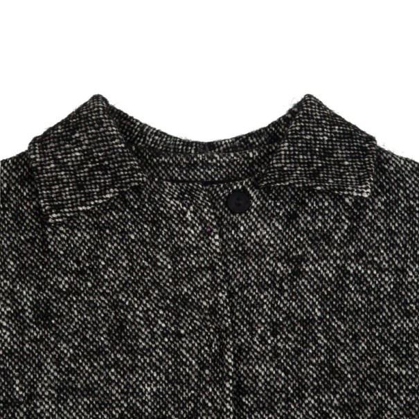 Dolce and Gabbana Gray Wool Herringbone Coat M