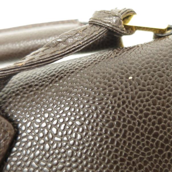Chanel Brown Caviar Briefcase