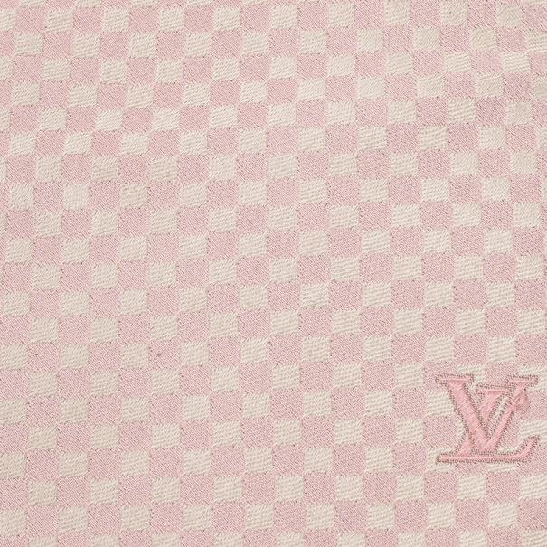 Louis Vuitton Pink Silk Petit Damier Tie