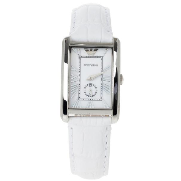Emporio Armani White Stainless Steel AR1672 Women's Wristwatch 20MM