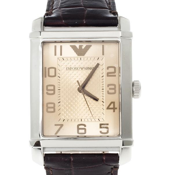Emporio Armani Bronze Stainless Steel AR0489 Unisex Wristwatch 33MM