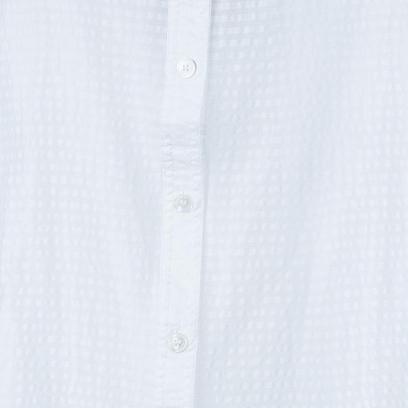 Burberry White Striped Blouse M